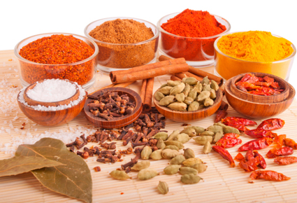 خلطات البهارات من المطبخ الهندي