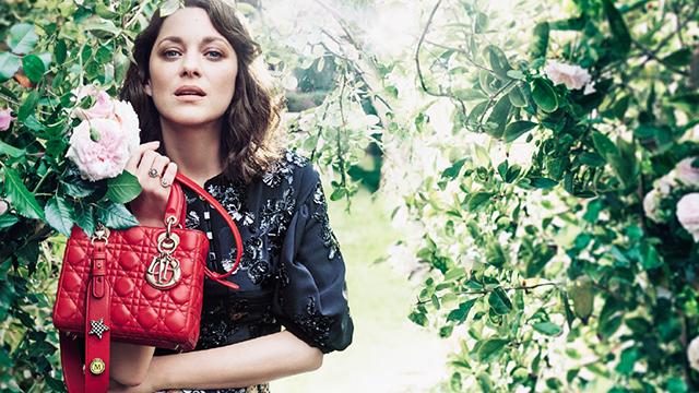 412be838a ماريون كوتيار نجمة حملة Lady Dior