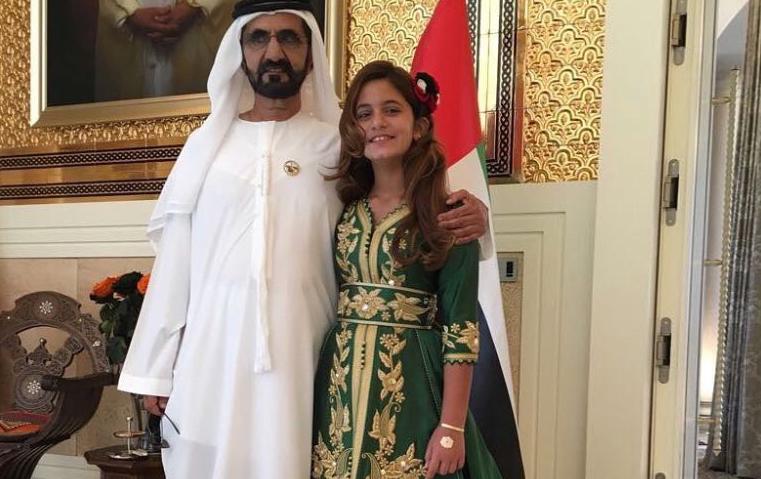 الأميرة هيا تنشر هذه الصورة احتفالاً بيوم العلم