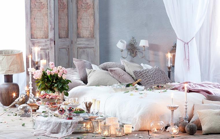 أضيفي لمسات رومانسية على غرفة نومك في الفالنتاين