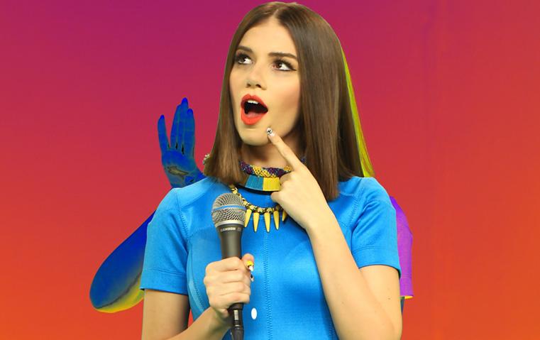 الحلقة الأولى من Out Of The Blue: لارا اسكندر تخوض التحدّي وتنجح!
