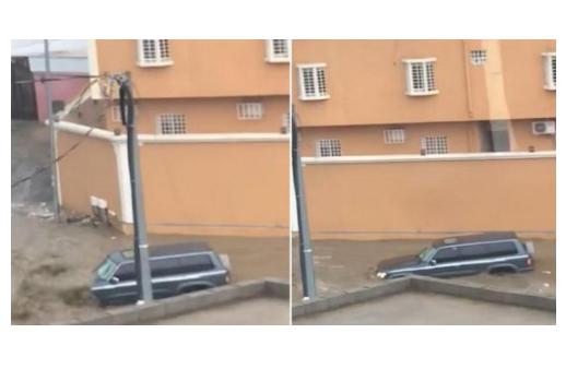 بالفيديو.. لحظة جرف السيول لسيارة الطفل الأحمري ووجود جثة السائق!