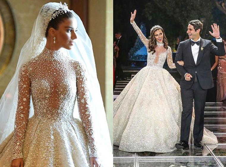 42879767b11f1 من هي النجمة المصرية التي لبست فستان زفاف من تصميم زهير مراد؟