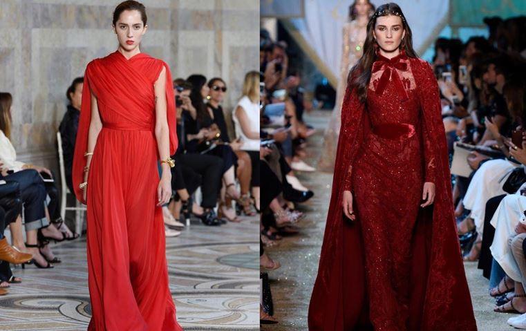 من عروض باريس للكوتور إليكِ أجمل الفساتين باللون الأحمر!