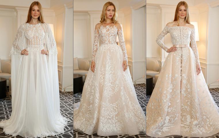 هل أعجبك فستان زفاف لارا اسكندر؟ زهير مراد يقدم لك المزيد من الخيارات لخريف 2018!