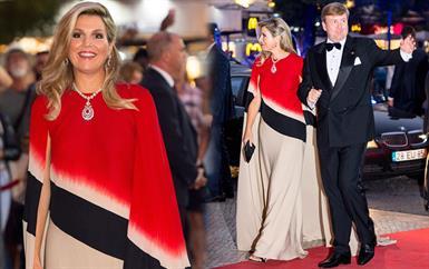 ملكة هولندا أثارت إعجاينا بطلة فاخرة بستايل الكاب