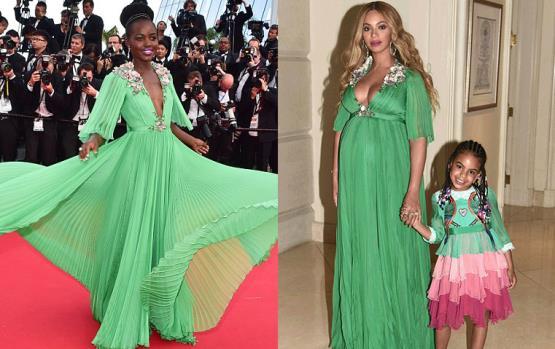 بيونسيه و لوبيتا ترتديان ذات الفستان والفرق عامان!