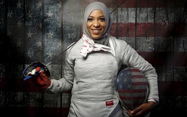 """المحجّبة الأولى في الأولمبياد ابتهاج محمد: """"أشجّع النساء على أن يصبحن فاعلات"""""""