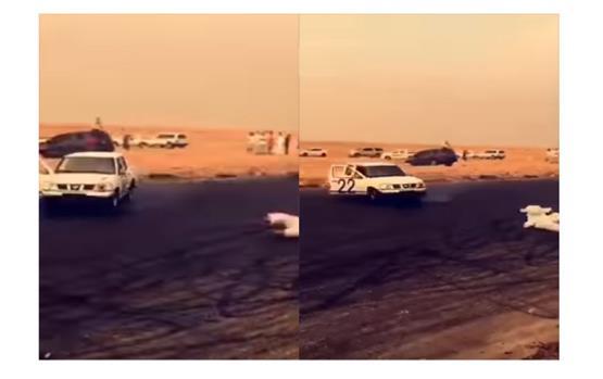بالفيديو.. التفحيط يتسبب في كارثة تسقط راكب من باب السيارة