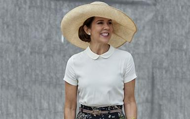 هذا ما ارتدته الأميرة ماري لإفتتاح معرض الحدائق