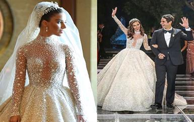 من هي النجمة المصرية التي لبست فستان زفاف من تصميم زهير مراد؟